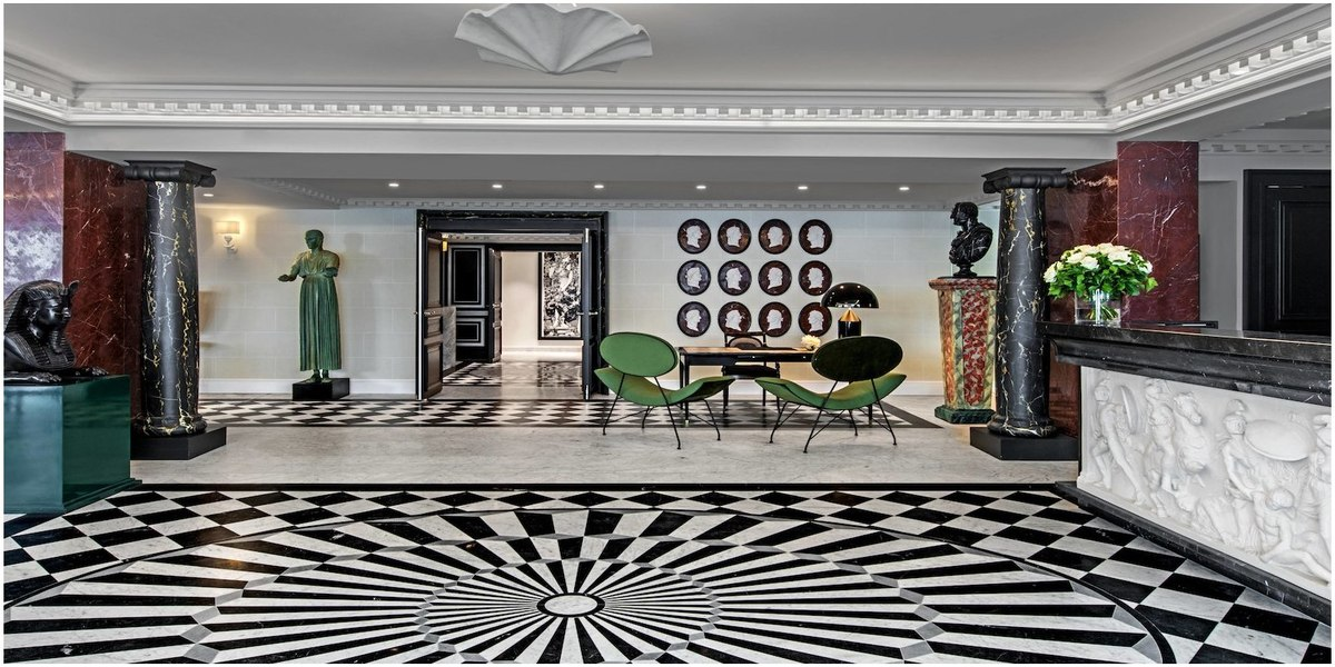 lobby ouvert architecture hoteliere